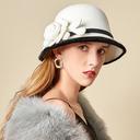 Ladies ' Uroczy/Uroczy/Romantyczny Wełna Z Kwiat jedwabiu Bowler / Cloche Hat