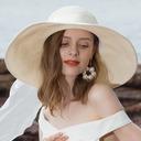 Señoras' Llamativo/Niza Papiro Disquete Sombrero/Sombrero de paja