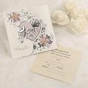 Style Classique Pli en 3 Cartes d'invitations (Lot de 50)
