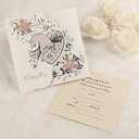 Classic Style Tri-Fold Invitation Cards (Set of 50)