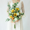 Simple And Elegant Cascade Artificial Flower Bridal Bouquets (Sold in a single piece) - Bridal Bouquets