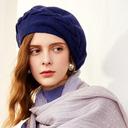 Ladies ' Prosty/Wzrok/Uroczy Aksamit/Nylon Beret Hat