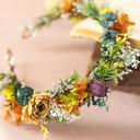 Classic Round Dried Flower Headdress Flower (Sold in a single piece) - Headdress Flower