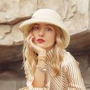 Señoras' Precioso/Elegante poliéster con Bowknot Sombreros Playa / Sol
