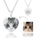 Personalizado Plata Corazón Grabado / Grabado En Blanco Y Negro Collar De La Foto - Regalos Del Día De La Madre