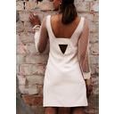 Solid Sheath Lantern Sleeve Long Sleeves Mini Party Sexy Dresses (294253695)
