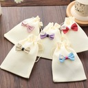 Random colors Linen Favor Bags With Bow (Set of 12) (050150940)
