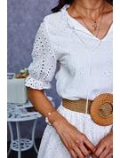 固体 シフトドレス 半袖 マキシ カジュアル ファッションドレス