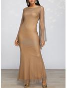 Sequins Sheath Long Sleeves Maxi Party Elegant Dresses