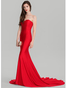 Trumpet/Mermaid Sweetheart Court Train Jersey Evening Dress