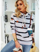 Rayures Manches Longues Sweat-shirt