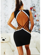 Color Block Bodycon Sleeveless Mini Party Sexy Dresses