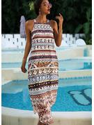 Print Shift Sleeveless Maxi Boho Casual Vacation Dresses