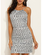 Print Sheath Sleeveless Mini Boho Casual Vacation Type Dresses