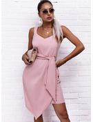 Jednolity Pokrowiec Bez Rękawów Mini Elegancki Rodzaj Modne Suknie