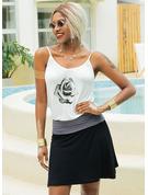 Floral Print Sheath Sleeveless Mini Casual Vacation Tank Dresses