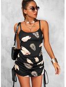 Print Bodycon Sleeveless Mini Sexy Type Dresses
