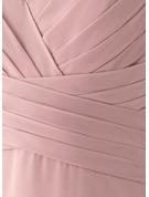 A-linjeklänning Korta ärmar Maxi Glamorös Romantiskt Sexig Modeklänningar
