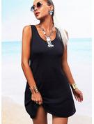 Solid Backless Sheath Sleeveless Mini Little Black Casual Vacation Dresses