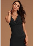 Sheath Sleeveless Midi Back Details Sexy Dresses