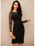 Bodycon Long Sleeves Midi Little Black Party Vintage Sexy Dresses