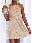 Print Shift Sleeveless Midi Elegant Dresses