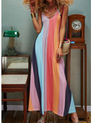 Tie Dye A-line Sleeveless Maxi Casual Vacation Type Dresses
