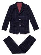 gutter 2 Deler Plaid Suits til ringbærere /Side Boy Suits med Jakke Bukser