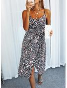 Print Shift Sleeveless Midi Casual Type Dresses