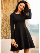 A-line Long Sleeves Midi Little Black Party Sexy Dresses