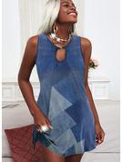Trozos de color Cubierta Sin mangas Mini Casual Vacaciones Vestidos de moda