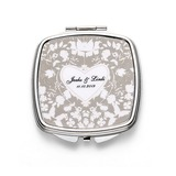 Bride Gifts - Personalized Beautiful Stainless Steel Compact Mirror
