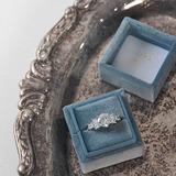 Presentes Da Noiva - Personalizado Delicado Gracioso Carimbo Dentro veludo Suporte de anel