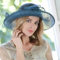 Bayanlar Göz alıcı/Güzel Patiska Ile İlmek Plaj / Güneş Şapkaları/Çay Partisi Şapkaları