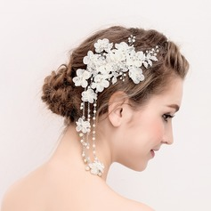 Ladies Gorgeous Rhinestone/Alloy/Imitation Pearls Combs & Barrettes (042118174)