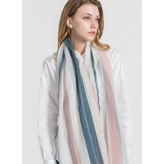 Randig Lättvikt/överdimensionerad polyester Halsduk