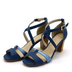 Kvinder PVC Stor Hæl sandaler Pumps Kigge Tå med Spænde sko