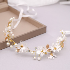 Ladies Vintage Rhinestone/Alloy/Pearls Headbands (Sold in single piece)