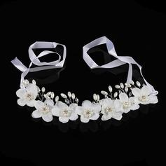 Rhinestone/Flores de seda Diademas con Rhinestone (Se venden en una sola pieza)