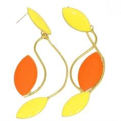 Exotic Alloy Coloured Glaze Women's Fashion Earrings