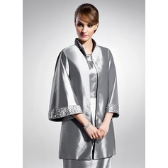 3/4-Length Sleeve Taffeta Special Occasion Wrap (013015119)