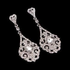 Den Fashional Legering/Silver med Kristall Damer' örhängen