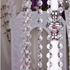Acessórios decorativos Acrílico Elegante Decorações de casamento