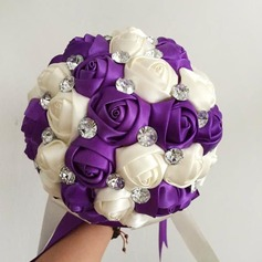 Beautiful Butterfly Free-Form Satin Bridal Bouquets (Sold in a single piece) - Bridal Bouquets