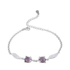 Dames Beau Argent 925 avec Cubique Zircon cubique Bracelets elle/Amis