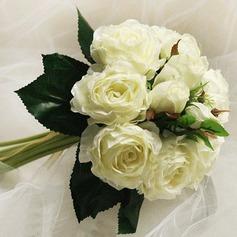 Привлекательный Круглый атласная невесты Букеты