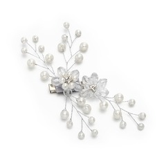 Ladies Special Crystal/Imitation Pearls Hairpins With Venetian Pearl/Crystal (Sold in single piece)