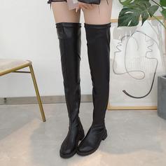 Femmes PU Talon bottier Bottes chaussures