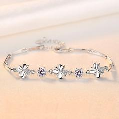 Dames Exquis Argent 925 avec Diamant Zircon cubique Bracelets elle/Amis