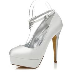 De mujer Satén Tacón stilettos Salón Zapatos Que Se Pueden Teñir